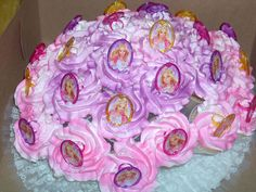 Barbie Cupcake Bouquet - via Cake Central