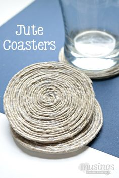 These beautiful Jute Coasters look like they came from an expensive store, but you can easily make them yourself! Here's the full DIY tutorial: