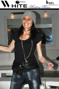 Eccomi... all'Happy Hour del WHITE di Forte dei Marmi, domenica 7 novembre. Rock outfit