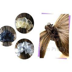 $0.99 Floral Headwrap Lacework Hair Tie Band - BornPrettyStore.com