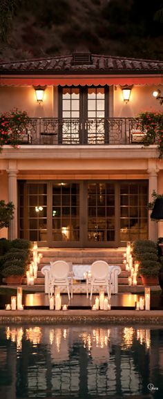 Dinner by the Pool @ the home of Christian Dior ~Grand Mansions, Castles, Dream Homes & Luxury Homes ~Wealth and Luxury