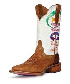 CINCH Antique Tan Logo Leather Cowboy Boot - Women by CINCH #zulily #zulilyfinds