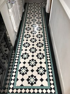 We specialise in Victorian Hallway Tiles and we offer an expert services in sorcing and laying traditional Victorian floor tiles hallway Hall Tiles, Tiled Hallway, Modern Hallway, Hallway Art, Modern Staircase, Hallway Ideas, Victorian Terrace Hallway, Victorian Mosaic Tile, Victorian Tiles Bathroom