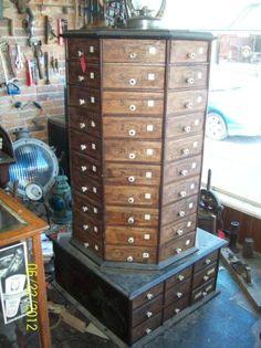 Antique Octagon Bolt Cabinet 5 ft tall Vintage Hardware Store - $2000 (Nevada Missouri)