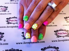 Electric Daisy Rock Star Nails