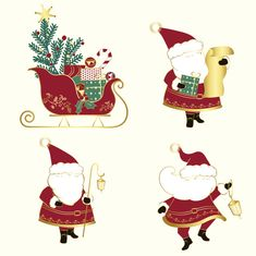 Set of christmas illustrations vector Fr.