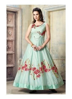 AF 3011 Green Silk Fabric Hand work & Resham Pearl Work Anarkali Traditional Look Occasionally Fancy Collection Formal Party Wear Gown wholesale Supplier from Surat in Best Price only @ INR Indian Designer Outfits, Designer Gowns, Indian Outfits, Indian Clothes, Silk Anarkali Suits, Anarkali Dress, Salwar Suits, Baby Pink Colour, Lehenga Designs