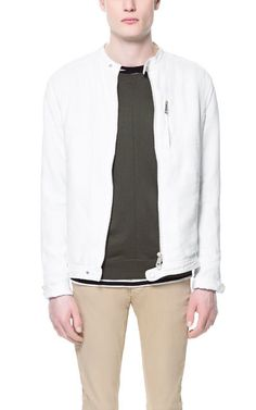 Image 2 of FAUX LEATHER COMBINATION JACKET from Zara