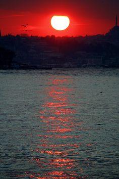istanbul sunset - Uskudar, Istanbul