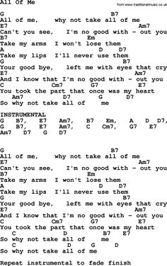 Willie Nelson song: All Of Me, lyrics and chords Easy Ukulele Songs, Guitar Chords And Lyrics, Acoustic Guitar Chords, Music Guitar, Music Lyrics, Ukulele Chords, Music Songs, Mandolin Songs, Jazz Guitar Lessons