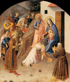 Adoration of the Magi by Blessed Fra Angelico.