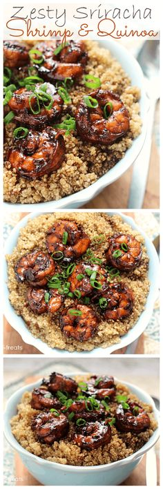 Zesty Sriracha Shrimp and Quinoa - Julie's Eats & Treats