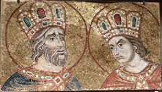 Fragment of a mosaic with the Holy Three Kings   Venice, Basilica di San Marco, Museo marciano
