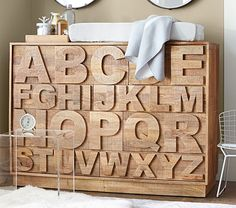 Oh my goodness...how cute is this dresser-ABC Dresser | Pottery Barn Kids