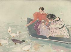 Mary Cassatt (American, 1844 – 1926): Feeding the Ducks (c. 1894) (via The Metropolitan Museum of Art)