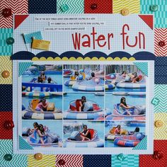 Featuring Bella Blvd Designer Washi Tapes. Water Fun Layout and Step-by-Step Project Sheet from Bella Blvd and DT Lead, Laura Vegas