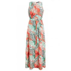Opt For Bold Prints This Season With This Tropical Print Maxi Dress. Always Check The Label. Latest Fashion For Women, Fashion Online, Fashion Kids, Mens Fashion, Wrap Dress, High Neck Dress, Summer Dresses, Lady, Model