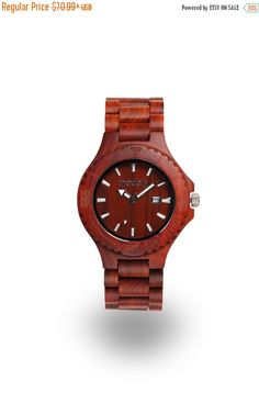 CYBER MONDAY 30% OFF Custom wooden watch wooden gift by Modply