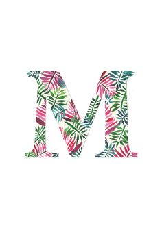 Custom monogram letter Digital print OR Physical print Print Fonts, New Home Gifts, Frame It, Cool Fonts, Free Website, Monogram Letters, Cute Cards, Digital Prints, Tropical