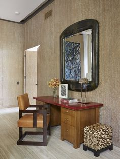 Masculine Home Office Inspiration. Design By Michael S. Smith Modern Office  Decor, Home