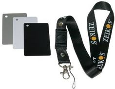 Zeikos ZE-DGC Digital Grey Card Set with Lanyard by Zeikos. $8.99. The Zeikos ZE-DGC Digital Grey Card Set features a digital grey color reference card, a pure white color reference card, a true black color reference card, a user's guide and a lanyard with a detachable clip. Get perfect exposures every time with this accessory!