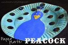 Paper Plate Peacock - could make a great mask!