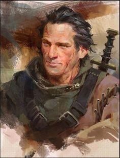 m veteran Ranger Med Armor Sword portrait Fantasy Male, Fantasy Rpg, Medieval Fantasy, High Fantasy, Fantasy Character Design, Character Design Inspiration, Character Concept, Character Art, Fantasy Portraits