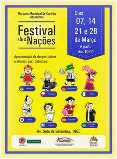II Festival das Nações do Mercado Municipal. Curitiba.
