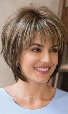 Colored Short Hairstyles 15 Unique Hair Color Ideas Light Brown Short Hairstyle The post Colored Short Hairstyles 15 Unique Hair Color Ideas appeared first on Haar. Short Hair Styles For Round Faces, Short Hairstyles For Thick Hair, Hairstyles Over 50, Short Hair With Layers, Short Hair Cuts, Curly Hair Styles, Layered Hairstyles, Short Pixie, Pixie Cuts