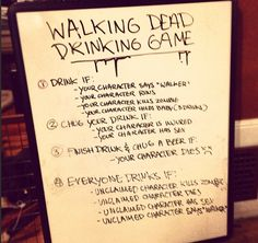 TWD Drinking Game