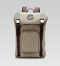 Gucci - interlocking G backpack from GUCCI. Shop more products from GUCCI on Wanelo. Gucci Clutch, Gucci Purses, Gucci Handbags, Handbags Online, Handbags On Sale, Leather Handbags, Gucci Sale, Gucci Outlet, Shoes