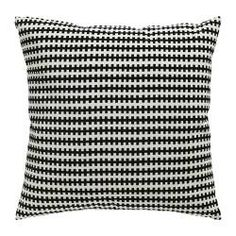 IKEA STOCKHOLM cushion, white, black Length: 55 cm Width: 55 cm Filling weight: 520 g  £15