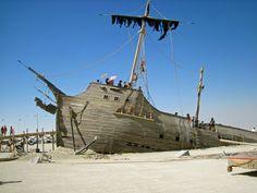 A sinking pirate ship. burningman