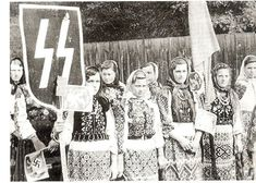 #Ukraine демонстрация в честь дивизии СС Галичина...Украина тогда, в годы войны... demonstration in honor of the SS division Galicia ... Ukraine then, during the war ...