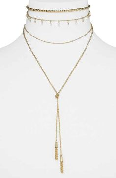 BaubleBar Karint Layered Y-Necklace