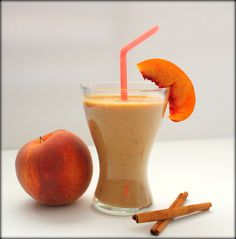 Spiced Peaches & Cream Quinoa Smoothies