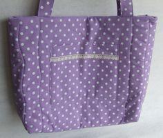 Meska :: .meska.hu :: :: Levendula alapon fehér pöttyös táska Diaper Bag, Bags, Fashion, Handbags, Moda, Fashion Styles, Diaper Bags, Mothers Bag, Fashion Illustrations