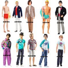 Ken doll evolution