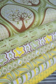 Love these greens and yellows - makes me think Irene! cannot believe you have me looking at fabric!!!