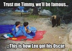 Trust me Timmy, we'll be famous... This is how Leo got his Oscar.: more funny animal pictures @ http://www.fartinvite.com/