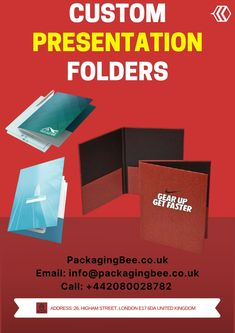 Custom file Folder which made document safe and easy to assess. Get Custom file folder at wholesale pricing in the Uk. Our is service best all over the Uk. #customcheapsfolder #CustomPrinting #WholesalePresentationFolders #WholesaleCustomPresentationFolders #CustomPackagingServices #CustomLogoBoxes #CustomPackaging #CustomPresentationFolders #PresentationFolders Packaging Services, Custom Packaging, Custom Presentation Folders, Document Safe, File Folder, Custom Logos, About Uk, Cards Against Humanity, Quotes
