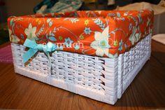 So Much Sew: Basket Liner Tutorial Diy Sewing Projects, Sewing Hacks, Sewing Tips, Sewing Ideas, Sewing For Kids, Diy For Kids, Basket Liners, Sewing Baskets, Baby Baskets