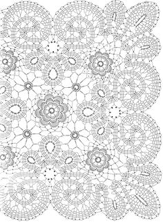 Coloring Sites for Adults Lovely Adult Christmas Coloring Pages to and Print for Free Bobbin Lace Patterns, Crochet Doily Patterns, Crochet Motif, Crochet Doilies, Bruges Lace, Filet Crochet, Irish Crochet, Adult Coloring, Coloring Books