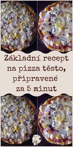 Pizza, Czech Recipes, International Recipes, Quiche, Oatmeal, Food And Drink, Tasty, Baking, Breakfast