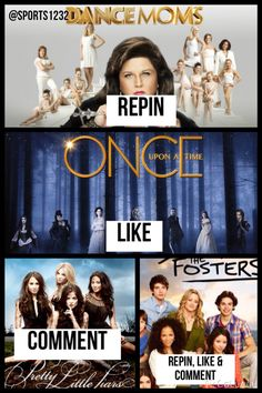 I can't decide between dance moms and Once upon a time!