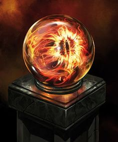 The Eye of Sauron in the Palantir of Saruman.