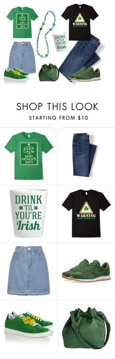 """Date Challenge: Go to a St. Patrick's Day Parade"" by sassyladies ❤ liked on Polyvore featuring Lands' End, Topshop, NIKE, Joshua's and Louis Vuitton"