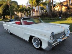 Used 1958 Lincoln Continental Convertible Stock # 1119 in Los Angeles, CA at Beverly Hills Car Club, CA's premier pre-owned luxury car dealership. Come test drive a Lincoln today! Vintage Cars, Antique Cars, Convertible, Beverly Hills Cars, Luxury Car Dealership, American Classic Cars, Classy Cars, Lincoln Continental, Us Cars