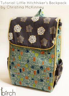 FabricWorm: Tutorial: Little Hitchhikers Backpack by Christina McKinney!