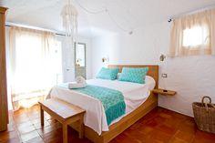 Porto Cervo - arredamento #camera località da vacanza, texture tessuti sardi.